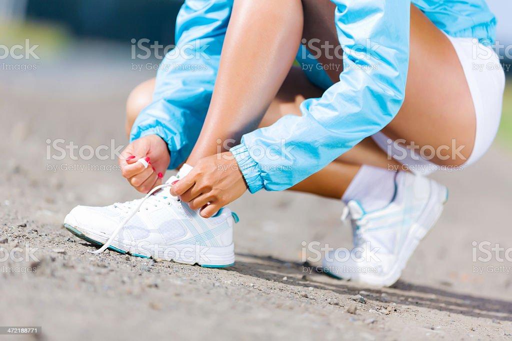 Running outdoor stock photo