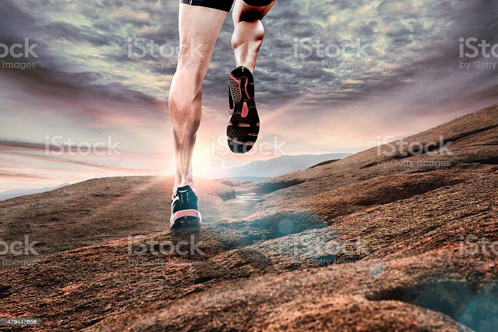 Running outdoor stock photo