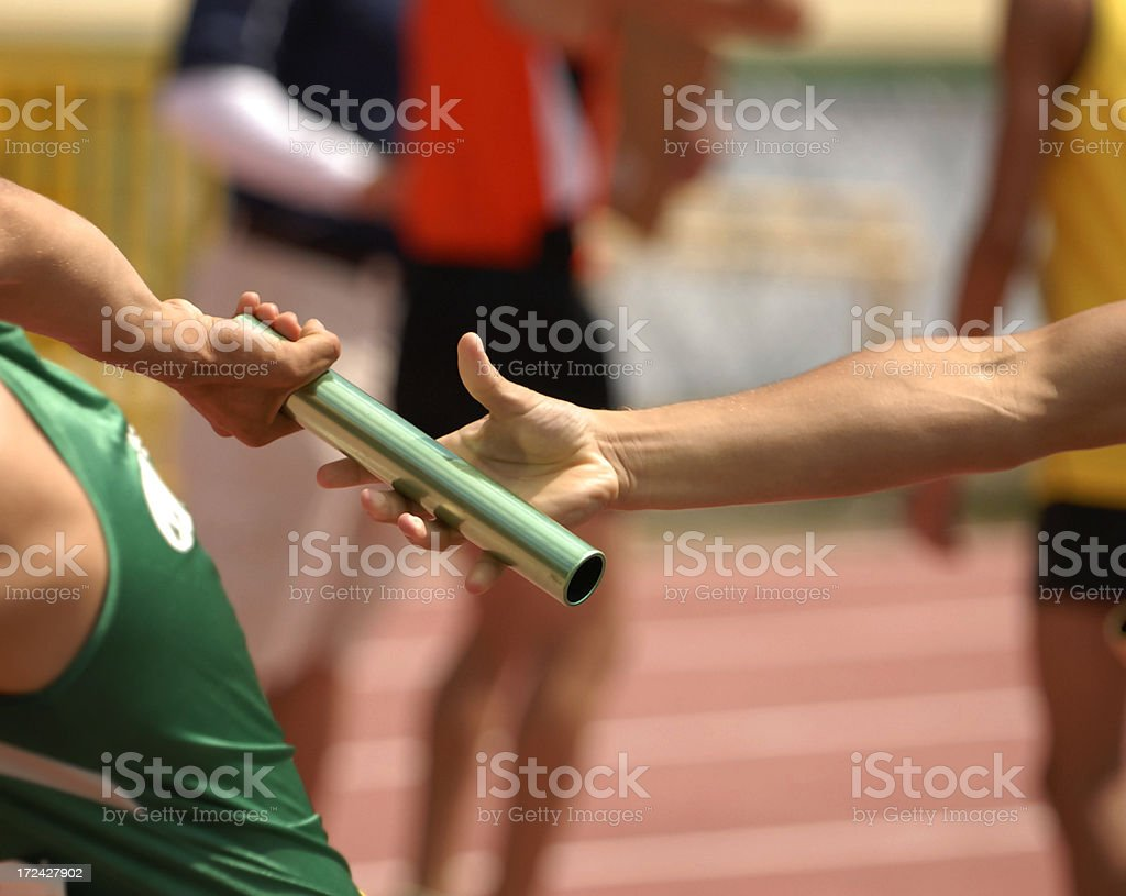 Running Pass royalty-free stock photo