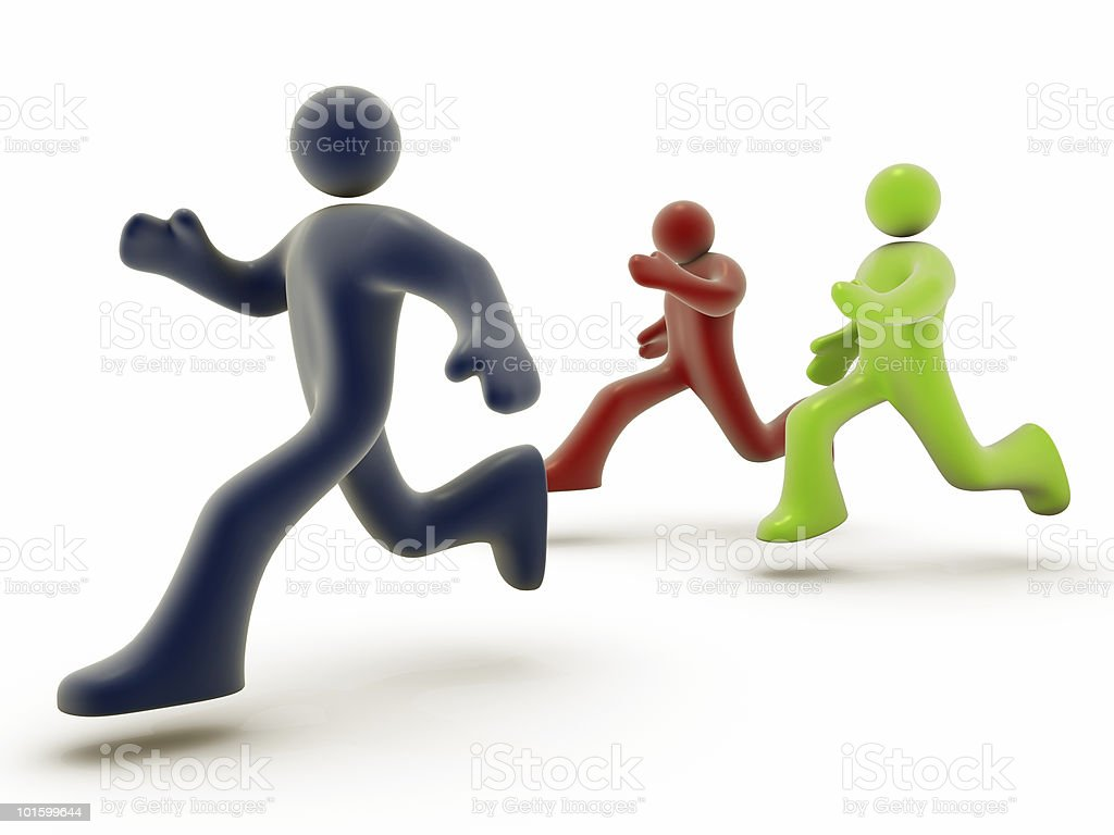 Running People royalty-free stock photo