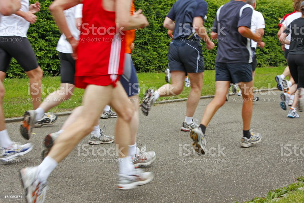 Running people # 2 XL royalty-free stock photo