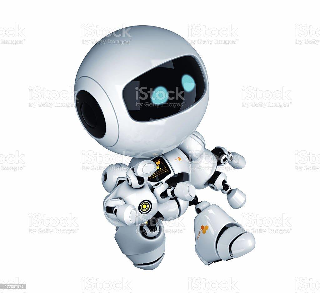 Running robotic toy royalty-free stock photo
