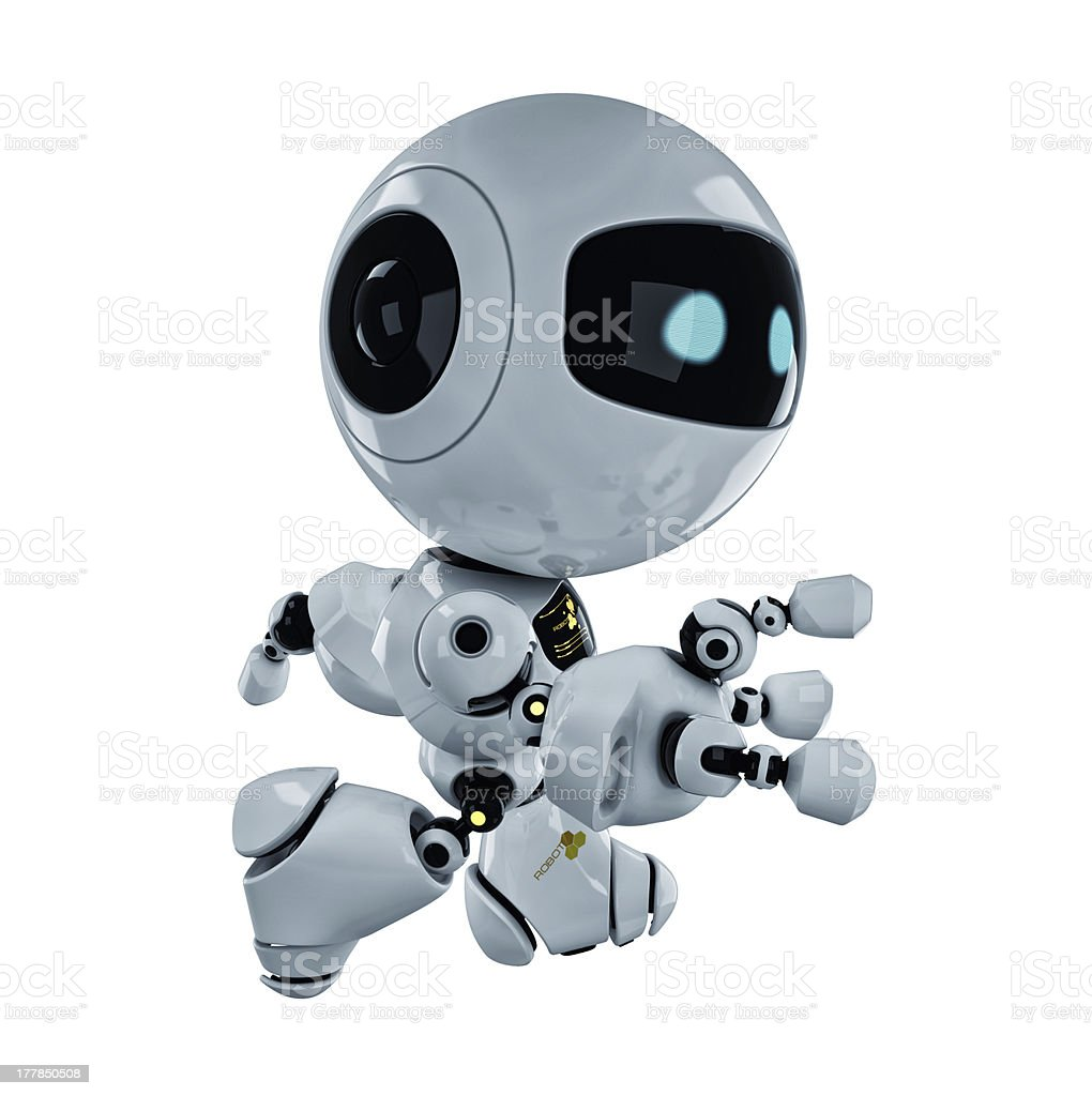 Running robotic toy royalty-free stock photo