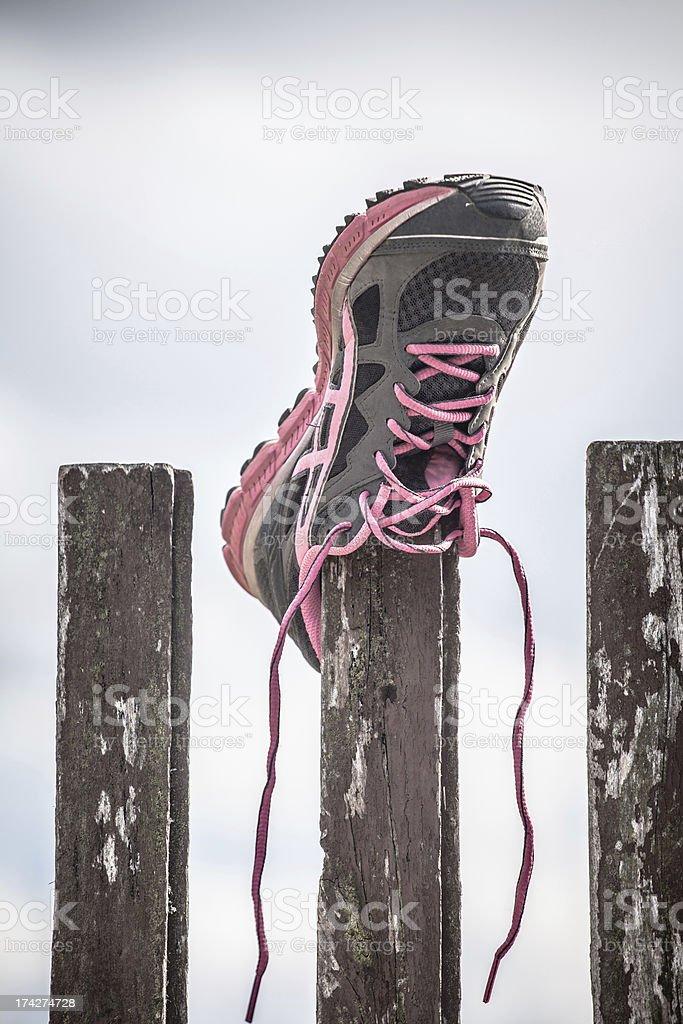 Running shoe stock photo