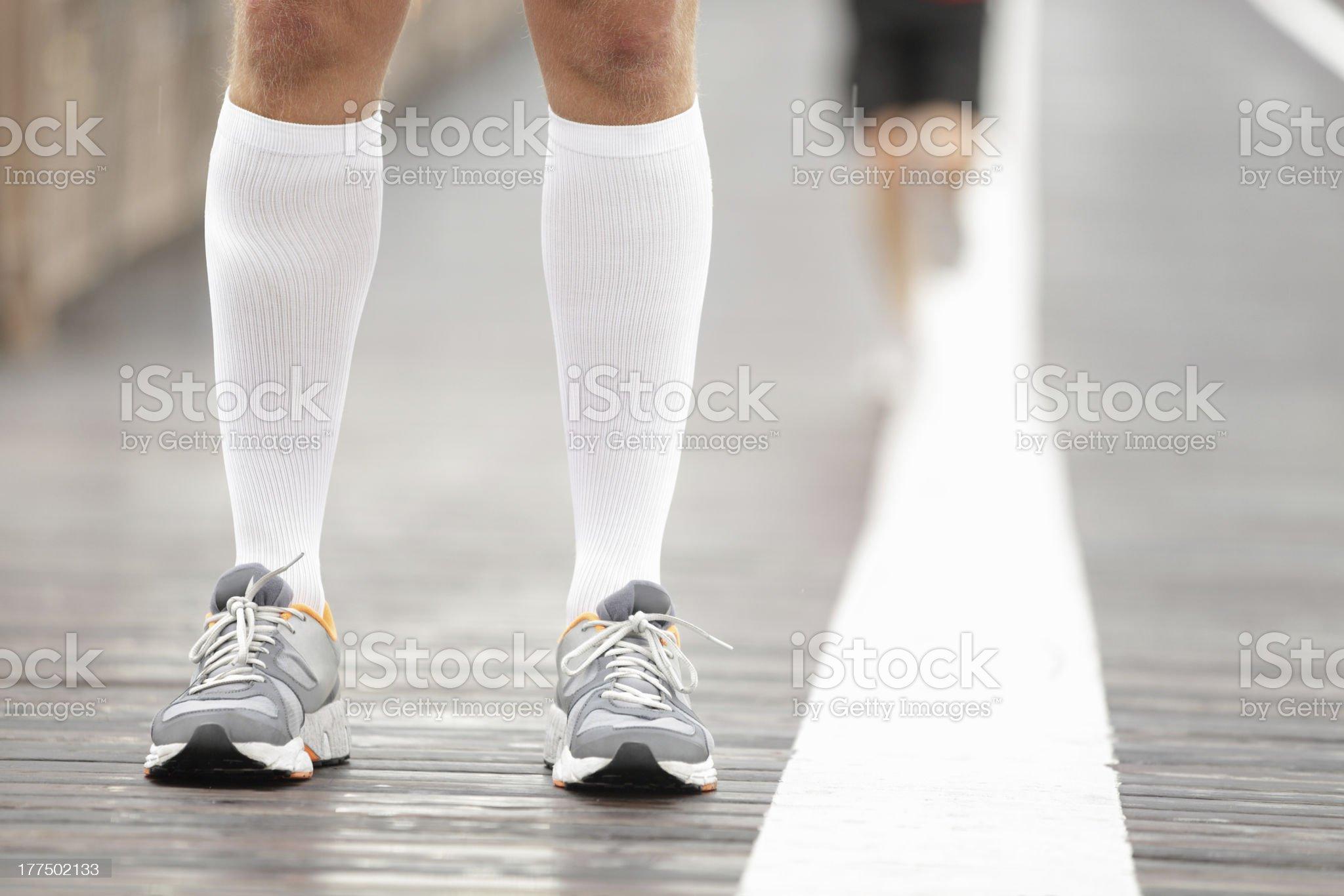 Running shoes closeup royalty-free stock photo