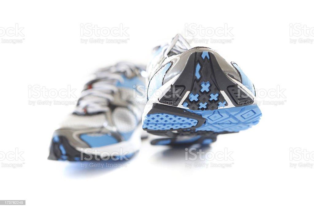 Running Shoes Take Big Steps royalty-free stock photo
