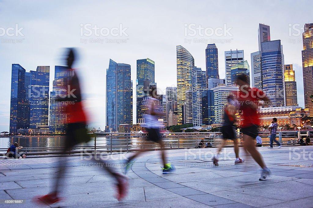 Running Singapore stock photo