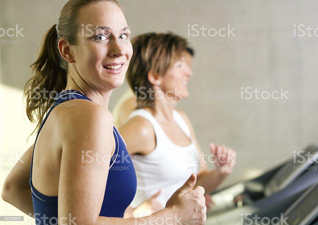 Running, smiling royalty-free stock photo