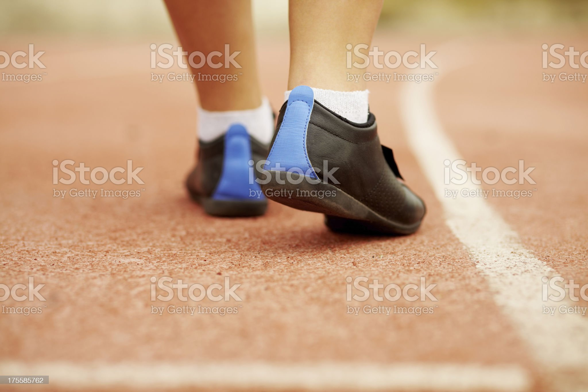 Running spikes royalty-free stock photo