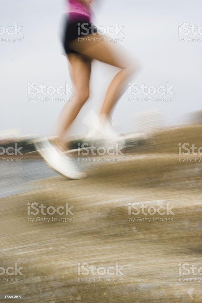 Running Stairs stock photo
