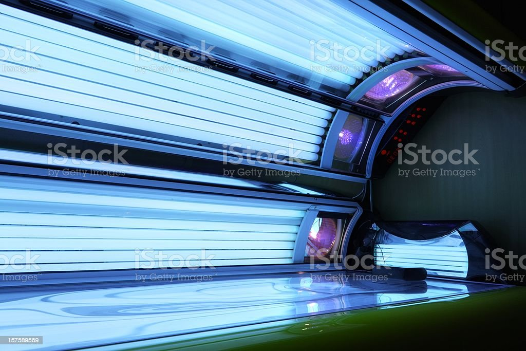 running tanning bed stock photo