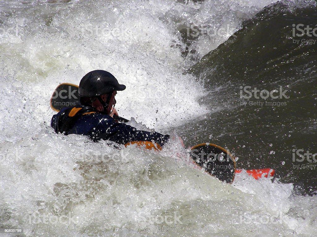 Running the Rapids stock photo