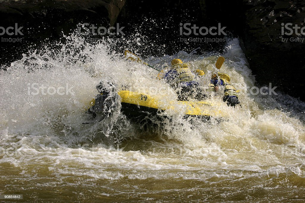 Running the River royalty-free stock photo