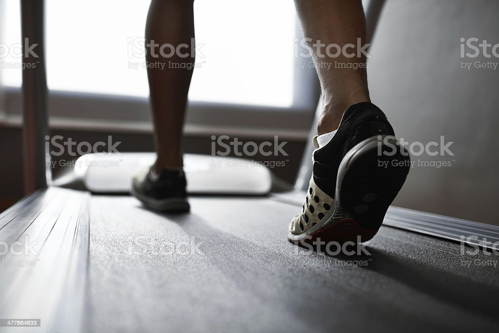 Running those calories off! stock photo