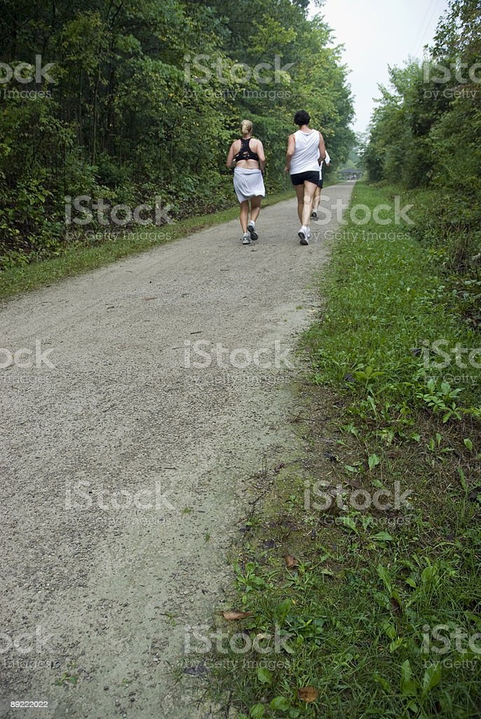 Running through the forest royalty-free stock photo