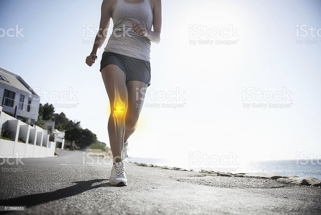 Running through the pain stock photo