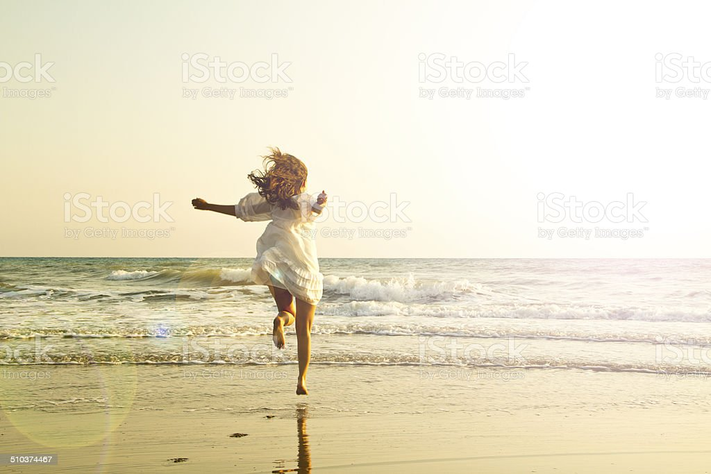 Running through the sea - imagination stock photo