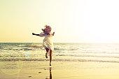 Running through the sea - imagination