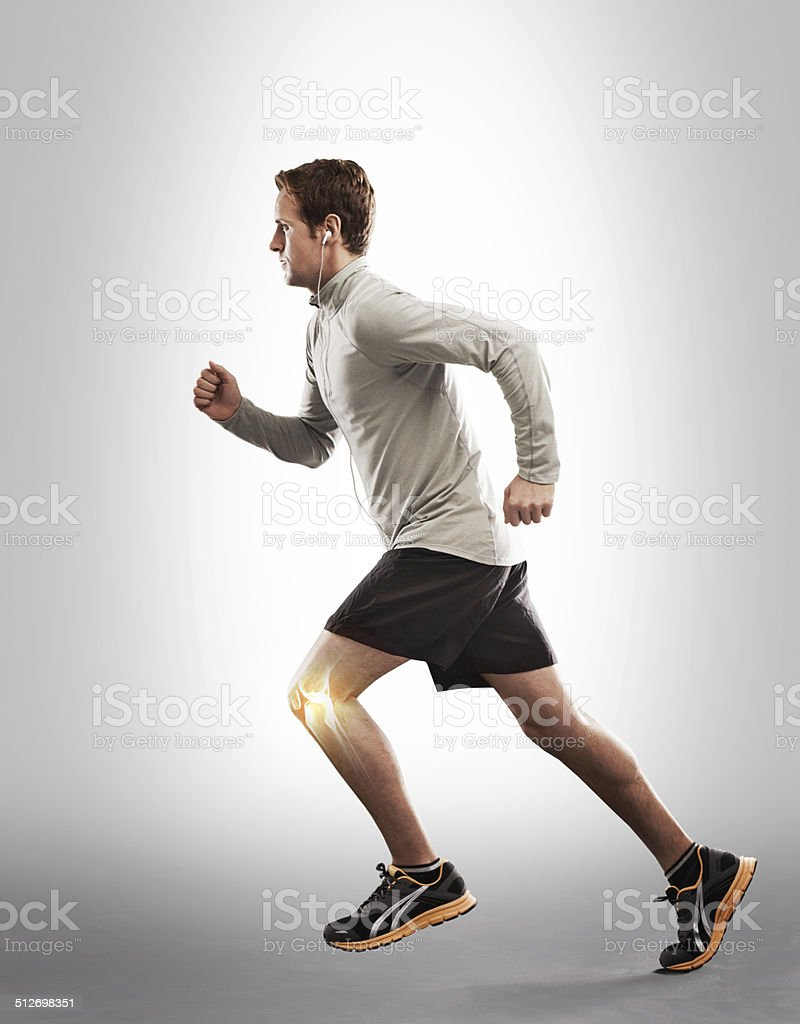 Running through the strain stock photo