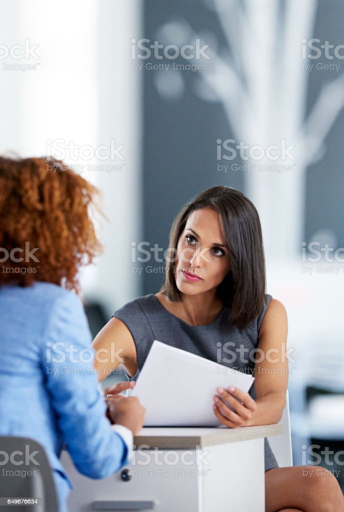 Running through their paperwork stock photo
