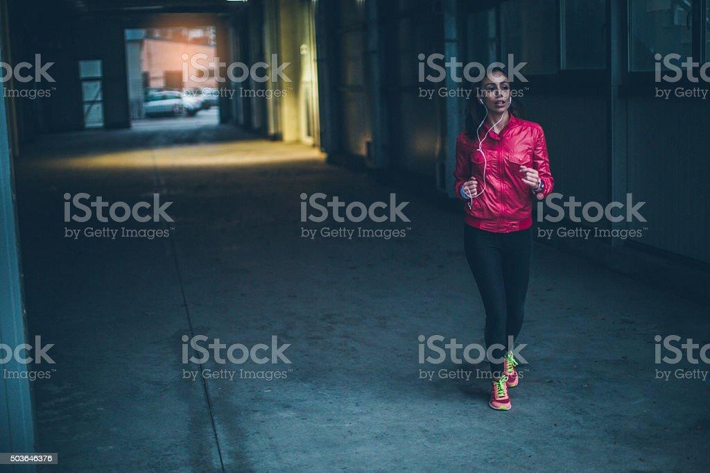 Running time stock photo