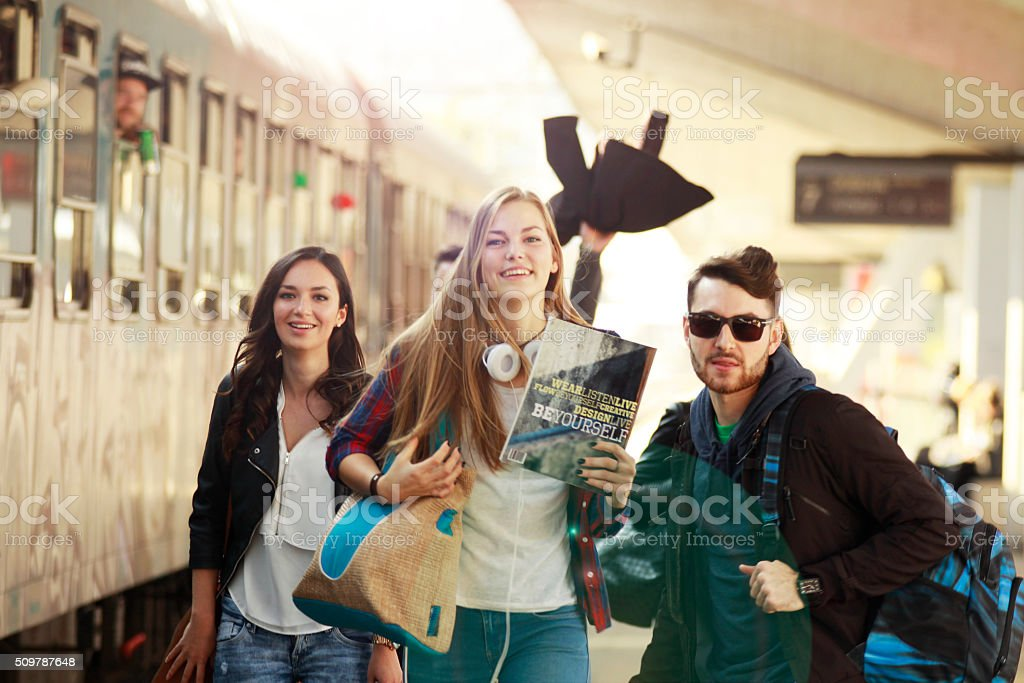 Running to new opportunity stock photo