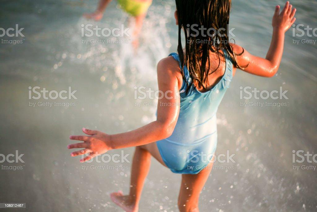 Running to Swim royalty-free stock photo