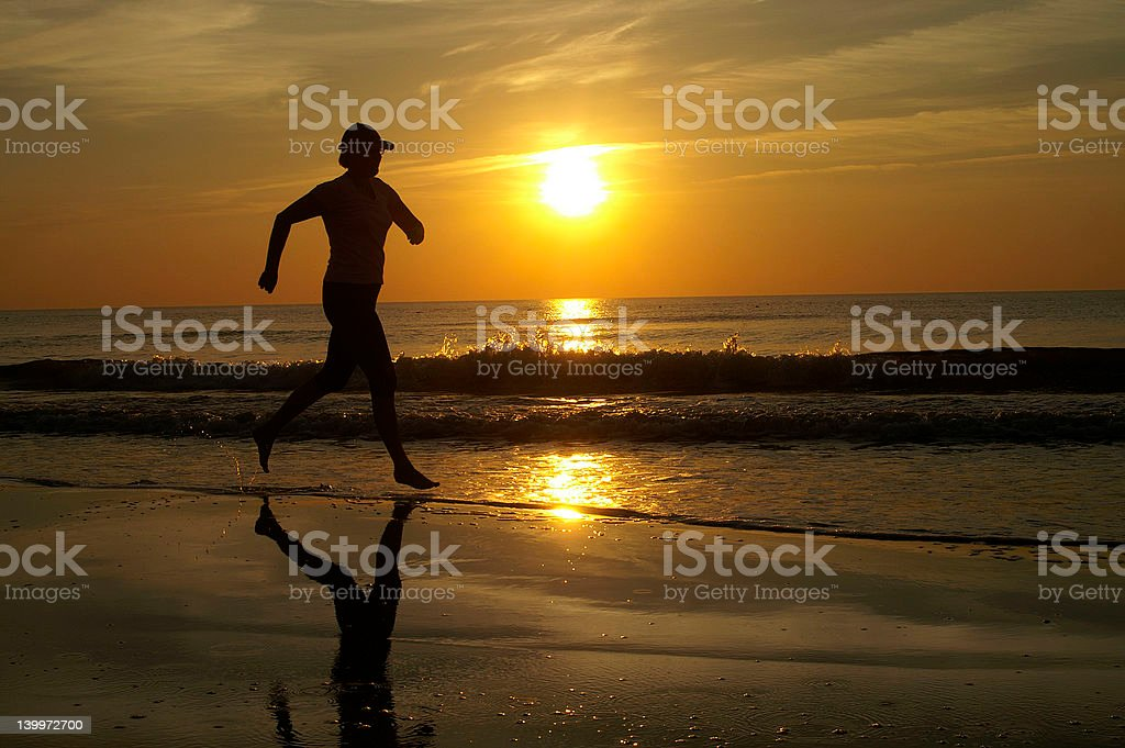 Running to the sun royalty-free stock photo