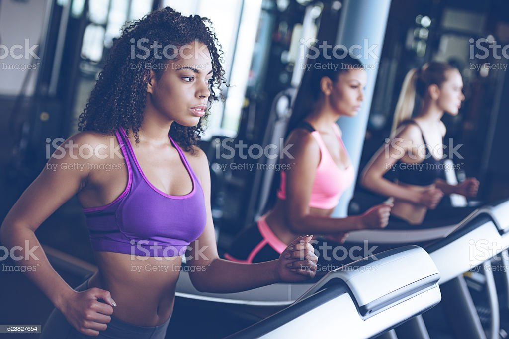 Running together. stock photo