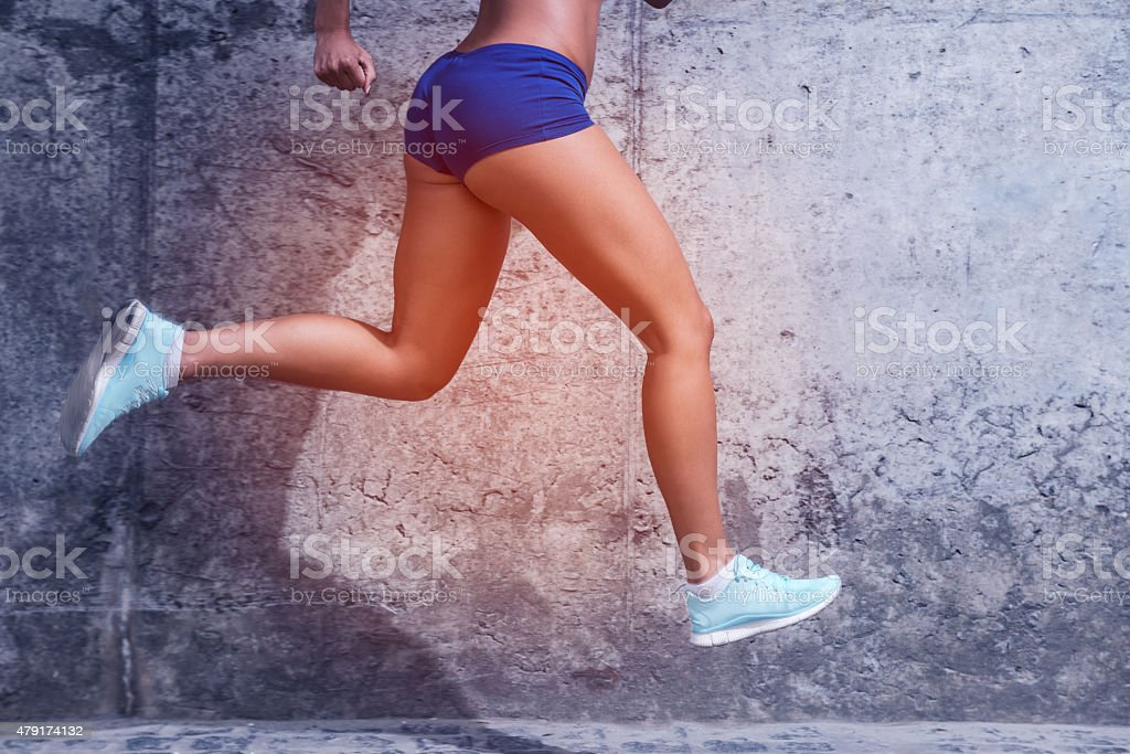 Running towards a healthy life. stock photo
