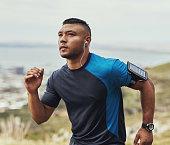 Running towards his fitness goals