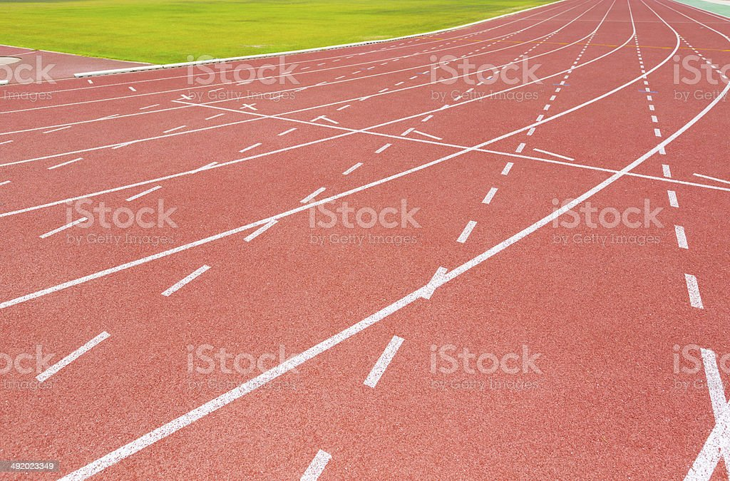 Running Track and Lanes stock photo