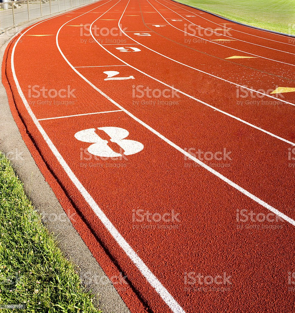 Running Track I royalty-free stock photo