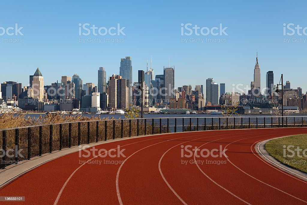 Running Track in New York. stock photo