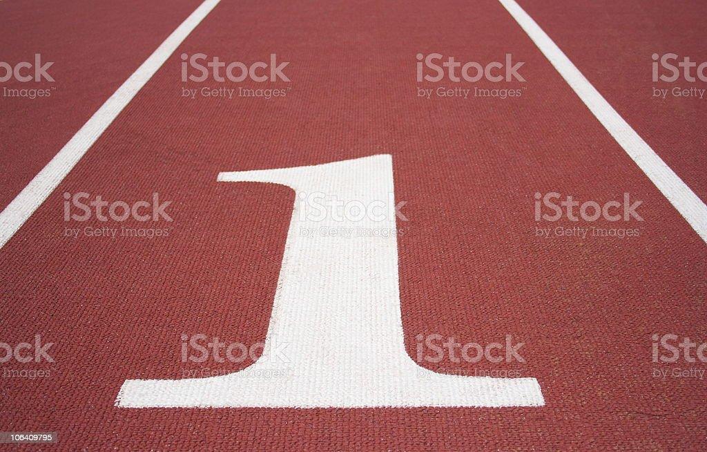 Running Track Lane #1 royalty-free stock photo