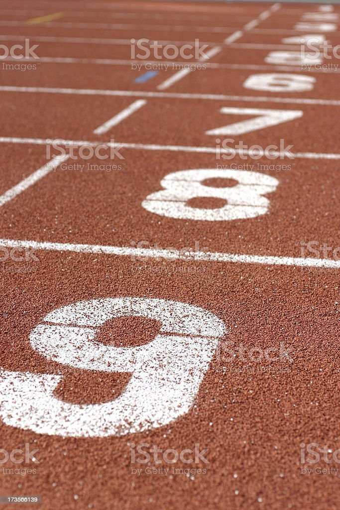 Running Track Numbers royalty-free stock photo