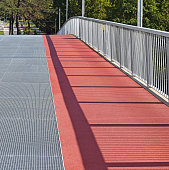 Running track on the pedestrian bridge