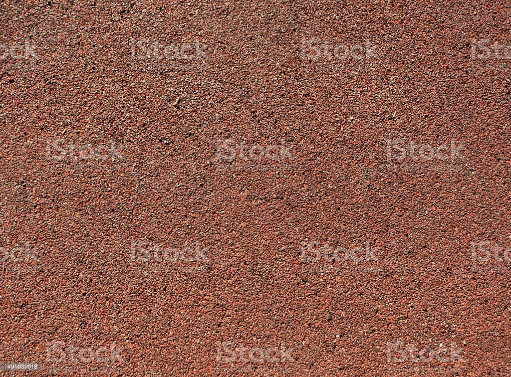 Running track red ground rubber cover. stock photo