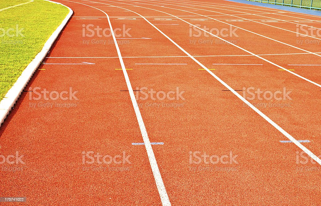 Running track rubber royalty-free stock photo