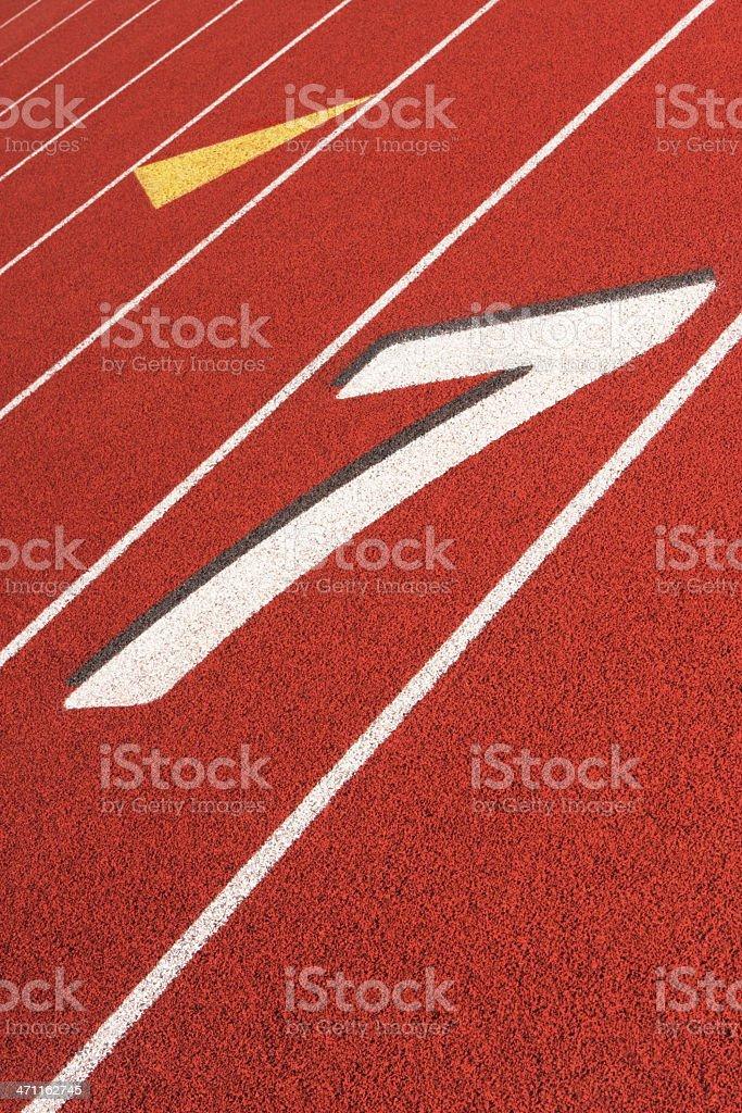 Running Track Sports Training Venue stock photo