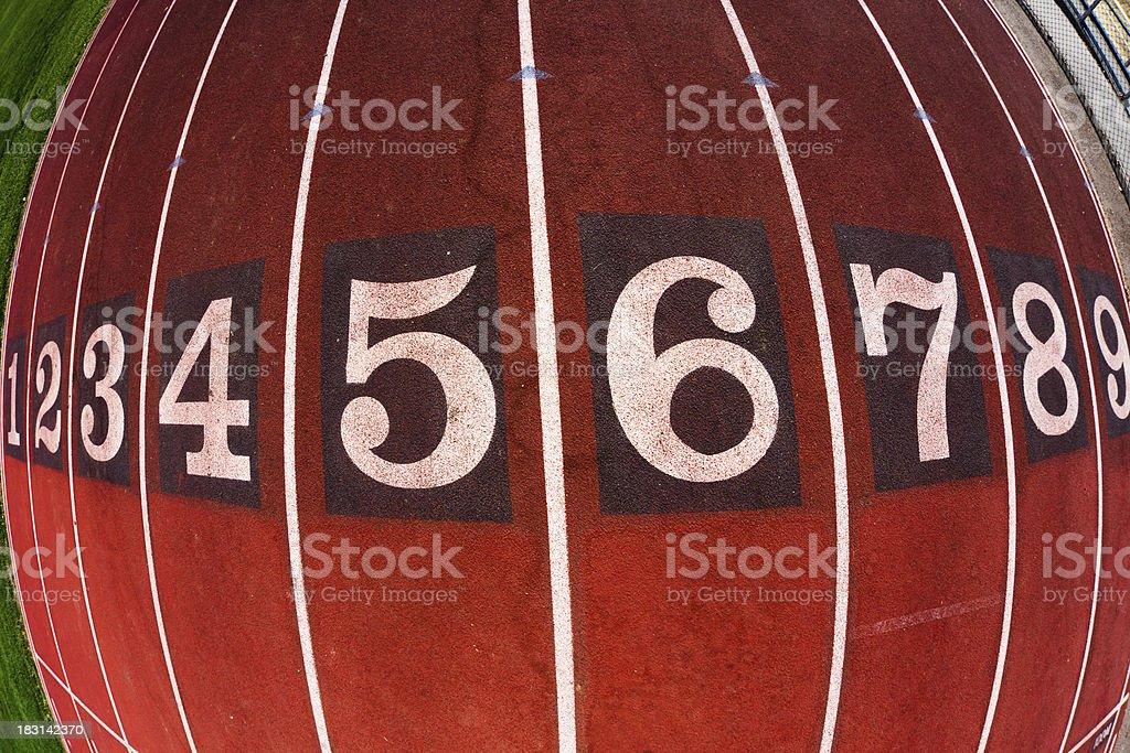 Running Track Start royalty-free stock photo