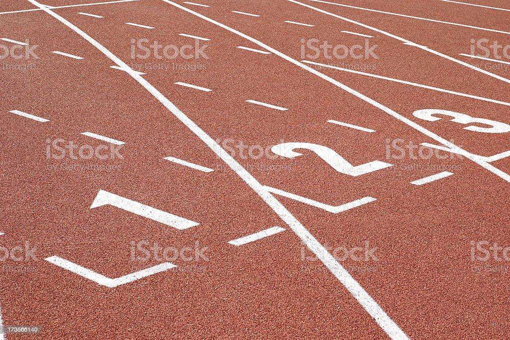 Running Track Starting Zone royalty-free stock photo