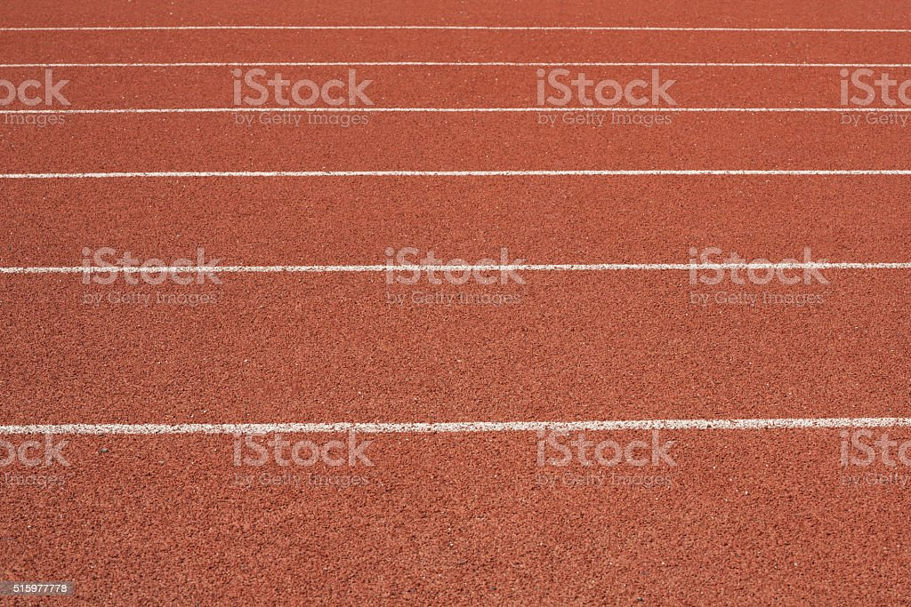 Running track texture stock photo
