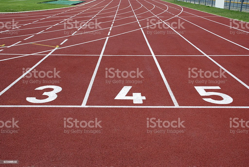 running track with numbers royalty-free stock photo