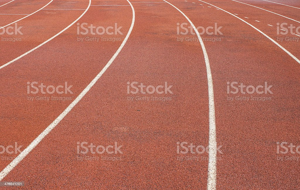 Running tracks for outdoor athletic royalty-free stock photo
