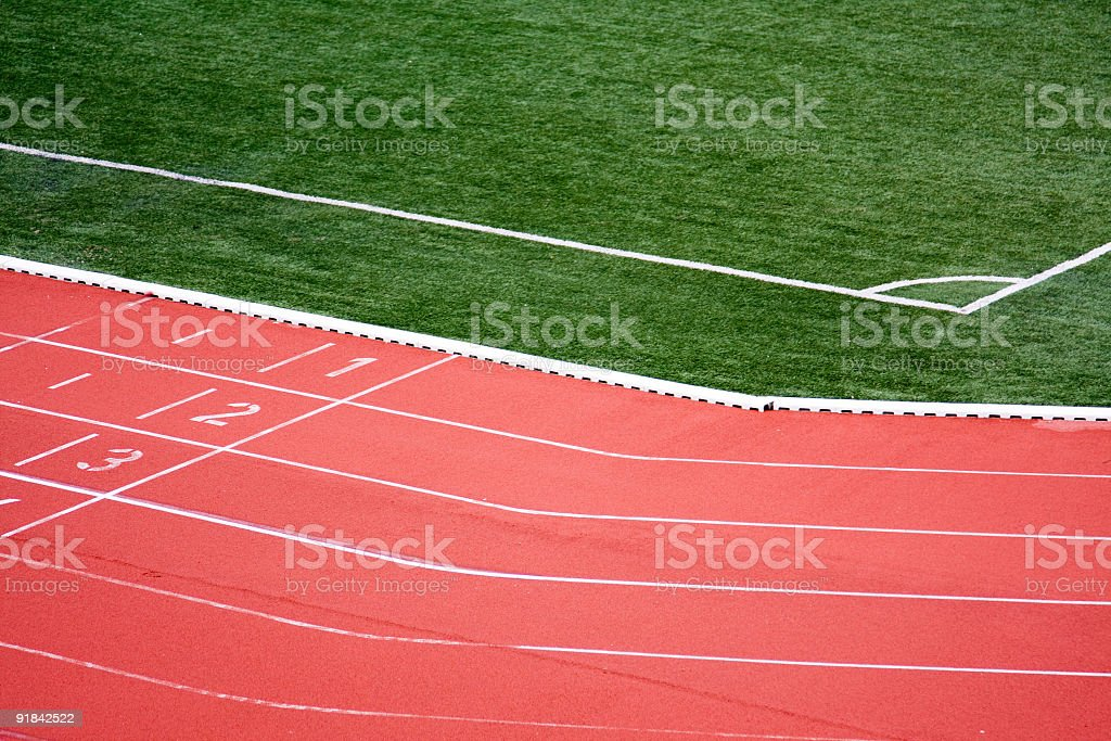 Running Tracks in a stadium royalty-free stock photo
