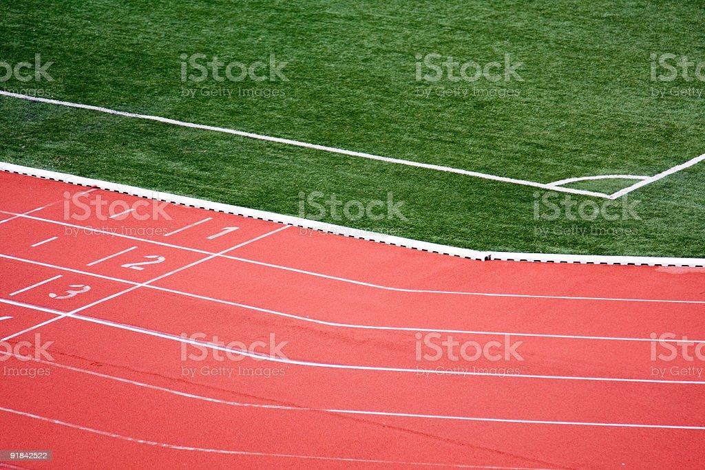 Running Tracks in a stadium stock photo