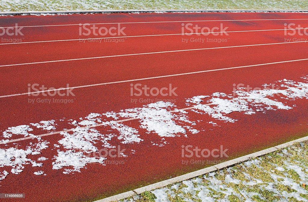 Running tracks royalty-free stock photo