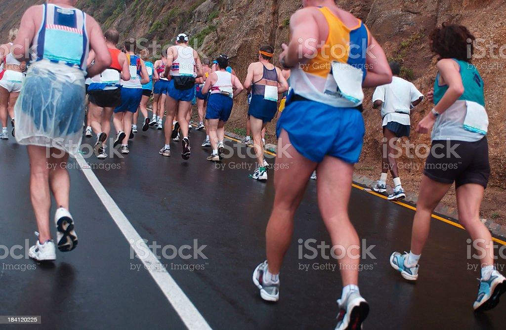 Running Uphill royalty-free stock photo
