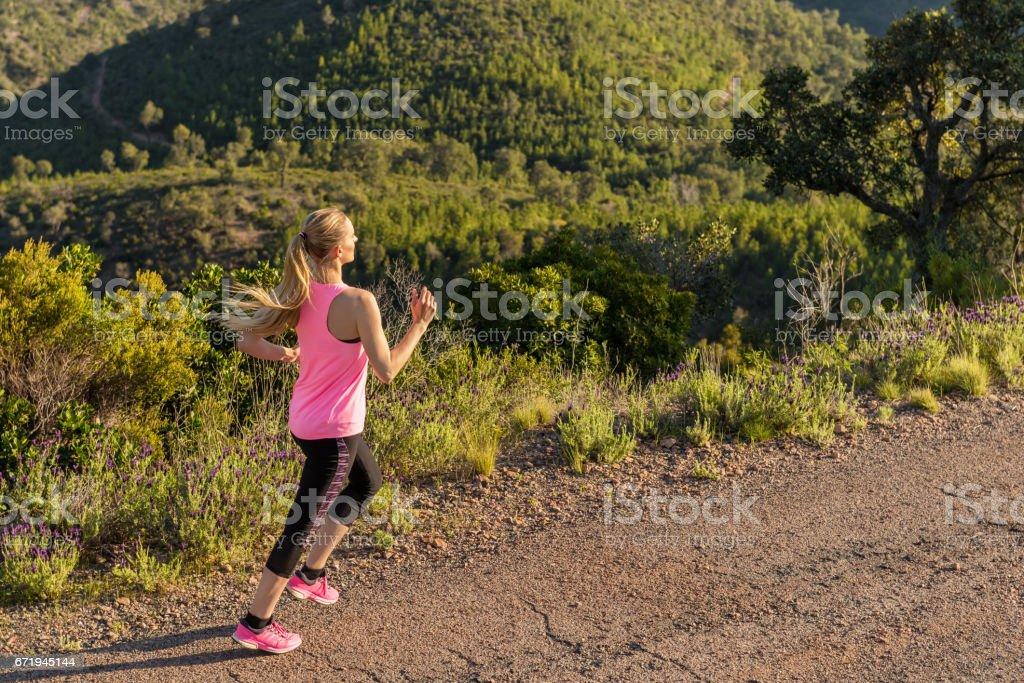 Running & vitality stock photo